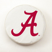 Alabama Crimson Tide White Tire Cover, Small