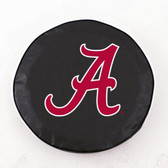 Alabama Crimson Tide Black Tire Cover, Large