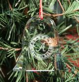 Alabama Crimson Tide Bell Shaped Crystal Christmas Ornament
