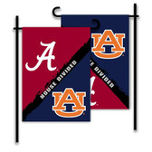 Alabama - Auburn  2-Sided Garden Flag - Rivalry House Divided