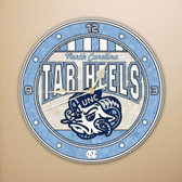 "North Carolina Tar Heels 12"" Art Glass Clock"