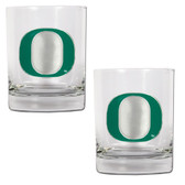 Oregon Ducks 2pc Rocks Glass Set