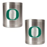 Oregon Ducks 2pc Stainless Steel Can Holder Set