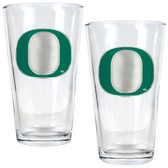 Oregon Ducks 2pc Pint Ale Glass Set