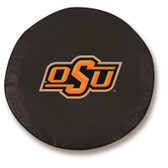 Oklahoma State Cowboys Black Tire Cover, Large