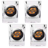 Oklahoma State Cowboys 4pc Square Shot Glass Set