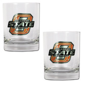 Oklahoma State Cowboys 2pc Rocks Glass Set