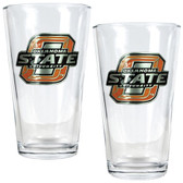Oklahoma State Cowboys 2pc Pint Ale Glass Set