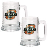Oklahoma State Cowboys 2pc Glass Tankard Set