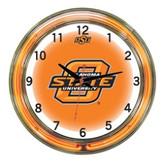 "Oklahoma State Cowboys 18"" Neon Wall Clock"