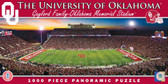 Oklahoma Sooners Panoramic Stadium Puzzle