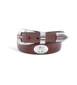 Oklahoma Sooners Crocodile Tip Leather Concho Belt Tan 40""