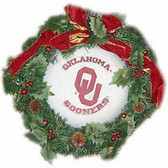 "Oklahoma Sooners 22"" Fiber Optic Holiday Wreath"