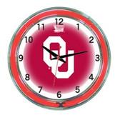 "Oklahoma Sooners 18"" Neon Wall Clock"
