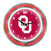 "Oklahoma Sooners 14"" Neon Wall Clock"