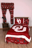 Oklahoma Bed in a Bag Twin - With Team Colored Sheets