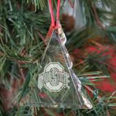 Ohio State Buckeyes Tree Shaped Crystal Christmas Ornament