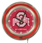 Ohio State Buckeyes Neon Clock