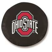 Ohio State Buckeyes Black Tire Cover, Large