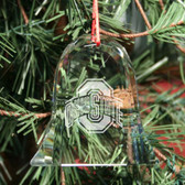 Ohio State Buckeyes Bell Shaped Crystal Christmas Ornament