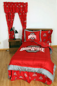 Ohio State Bed in a Bag Queen - With Team Colored Sheets