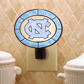 North Carolina Tar Heels Art Glass Nightlight