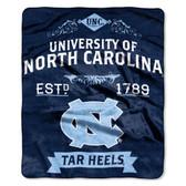 "North Carolina Tar Heels 50""x60"" Royal Plush Raschel Throw Blanket -  Label Design"