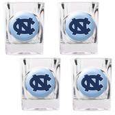 North Carolina Tar Heels 4pc Square Shot Glass Set
