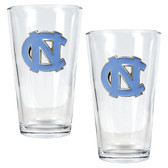 North Carolina Tar Heels 2pc Pint Ale Glass Set