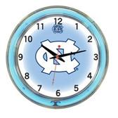 """North Carolina Tar Heels 18"""" Neon Wall Clock"""