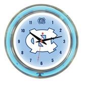 """North Carolina Tar Heels 14"""" Neon Wall Clock"""