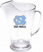 North Carolina 64 oz. Crystal Clear Plastic Pitcher