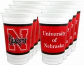 Nebraska Cornhuskers 16 oz. Cups