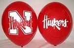 "Nebraska Cornhuskers 11"" Balloons"