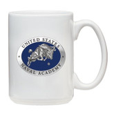 Navy Midshipmen White Coffee Mug Set