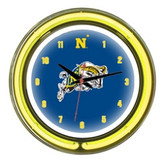 "Navy Midshipmen 14"" Neon Wall Clock"