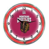 "Montana Grizzlies 18"" Neon Wall Clock"