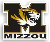 """Missouri Tigers 12"""" Car Magnet"""