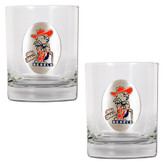 Mississippi Rebels 2pc Rocks Glass Set
