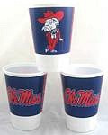 Mississippi Rebels 16 oz Cups