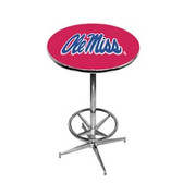 Mississippi   Rebels Pub Table w/ Foot Ring Base UMSPTR232