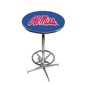 Mississippi   Rebels Pub Table w/ Foot Ring Base