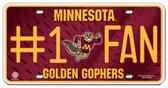 Minnesota Golden Gophers License Plate - #1 Fan