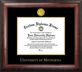 Minnesota Golden Gophers Gold Embossed Medallion Diploma Frame