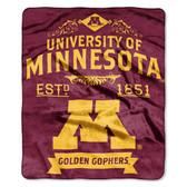 "Minnesota Golden Gophers 50""x60"" Royal Plush Raschel Throw Blanket -  Label Design"