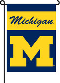Michigan Wolverines 2-Sided Garden Flag Set w/ #11213 Garden Pole