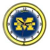 "Michigan Wolverines 18"" Neon Wall Clock"
