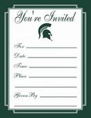 Michigan State Spartans Formal Invitations