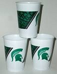 Michigan State Spartans 16 oz Cups