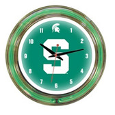 "Michigan State Spartans 14"" Neon Wall Clock"